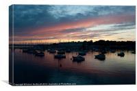 Tamar Sunset, Canvas Print