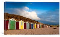 Saunton Sands Beach Huts, Canvas Print