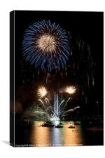 Summer Fireworks i, Canvas Print