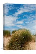 Formby Sand Dunes & Sky, Canvas Print