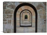 Receding Arches, Canvas Print