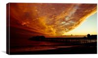 This Sun Always Sets Again, Canvas Print