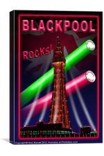 Blackpool Rocks, Canvas Print