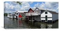 All American Boat Houses, Canvas Print