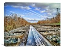 The Steel Rail Blues., Canvas Print