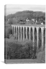 Rail-bridge at Llangollen, Canvas Print