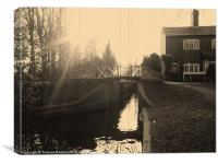 The lock-keepers cottage, Canvas Print