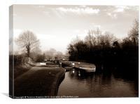 Canal locks at Lapworth, Canvas Print