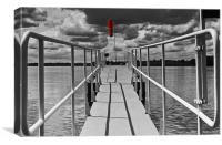 Rutland Water Jetty, Canvas Print