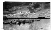 Rutland Water Hire Boats, Canvas Print