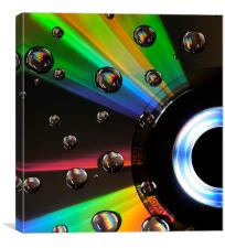 CD Digital Art Light Painting, Canvas Print
