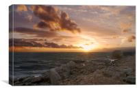 Portland Bill Sunset, Canvas Print