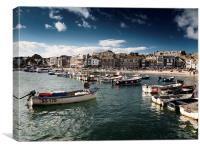 St.Ives Sea View, Canvas Print