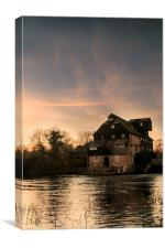 Houghton Mill at Sunset, Canvas Print