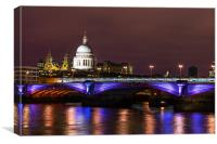 Illumination of St Pauls Cathedral, Canvas Print