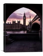Big Ben Sunset, Canvas Print