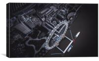 London Eye from Above, Canvas Print