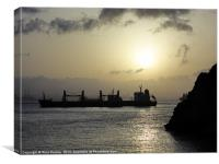 Bay of Gibraltar sunset, Canvas Print