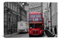 London Red Bus, Canvas Print