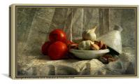 Tomatoes and Garlic, Canvas Print