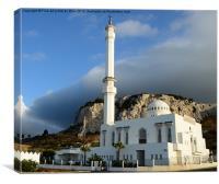 Gibraltar Mosque, Canvas Print