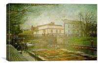 Misty River Cam, Cambridge, Canvas Print