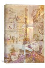 Réflexions de Paris, Canvas Print