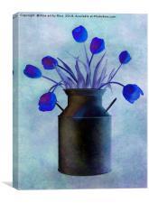 Blue Tulips, Canvas Print