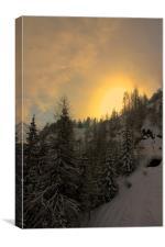 Grande Casse Sunset, Canvas Print