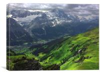 Bernese Oberland, Canvas Print