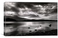 Sunset Lake Te Anau NZ, Canvas Print