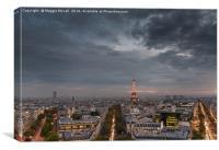 Paris from the L'Arc de Triomph, Canvas Print
