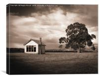 Old School House, Otahu Flat, New Zealand, Canvas Print