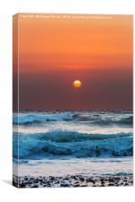 Widemouth Sunset, Cornwall, Canvas Print