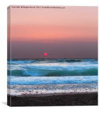 Widemouth Sunset 2, Canvas Print