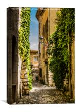 An Alley In Saint paul de Vence, South of France., Canvas Print