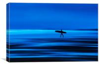 Abstract Lone Surfer, Canvas Print