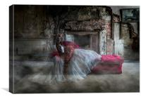 Ghostly Bride Fashion Shoot, Canvas Print