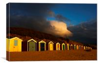 Saunton Sands Beach Huts, Barnstable., Canvas Print