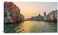 Sunset, Grand Canal, Venice!, Canvas Print