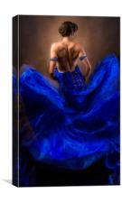 Woman In A Billowing Blue Gown, Canvas Print