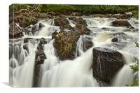 ROCKS&BOULDERS Swallow Falls, Canvas Print