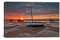 MEOLS SHORE (Sunburst), Canvas Print