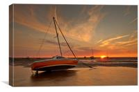 WARM SUNSET (Meols Beach North West, Canvas Print