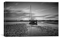 GROUNDED ON THE ESTUARY, Canvas Print