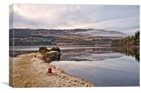 LOCH NESS(Cold misty morning), Canvas Print