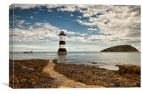 TRWYN DU ( Penmon Point Lighthouse in the welsh la, Canvas Print