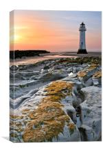 New Brighton Lighthouse (Ground Level), Canvas Print