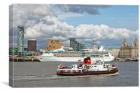 VISION OF THE SEAS CRUISE SHIP ( Pier Head), Canvas Print