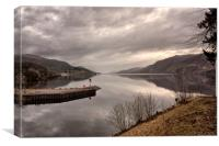 ENTER LOCH NESS (Exit Caledonia Canal ), Canvas Print